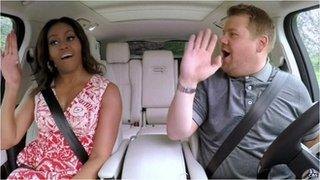 BBC News - Michelle Obama joins James Corden for 'Carpool Karaoke'