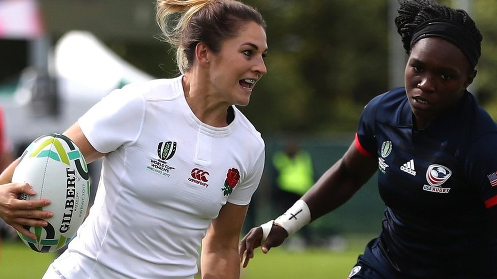 England put seven tries past USA to power into World Cup semis