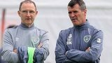 Republic manager Martin O'Neill and assistant Roy Keane