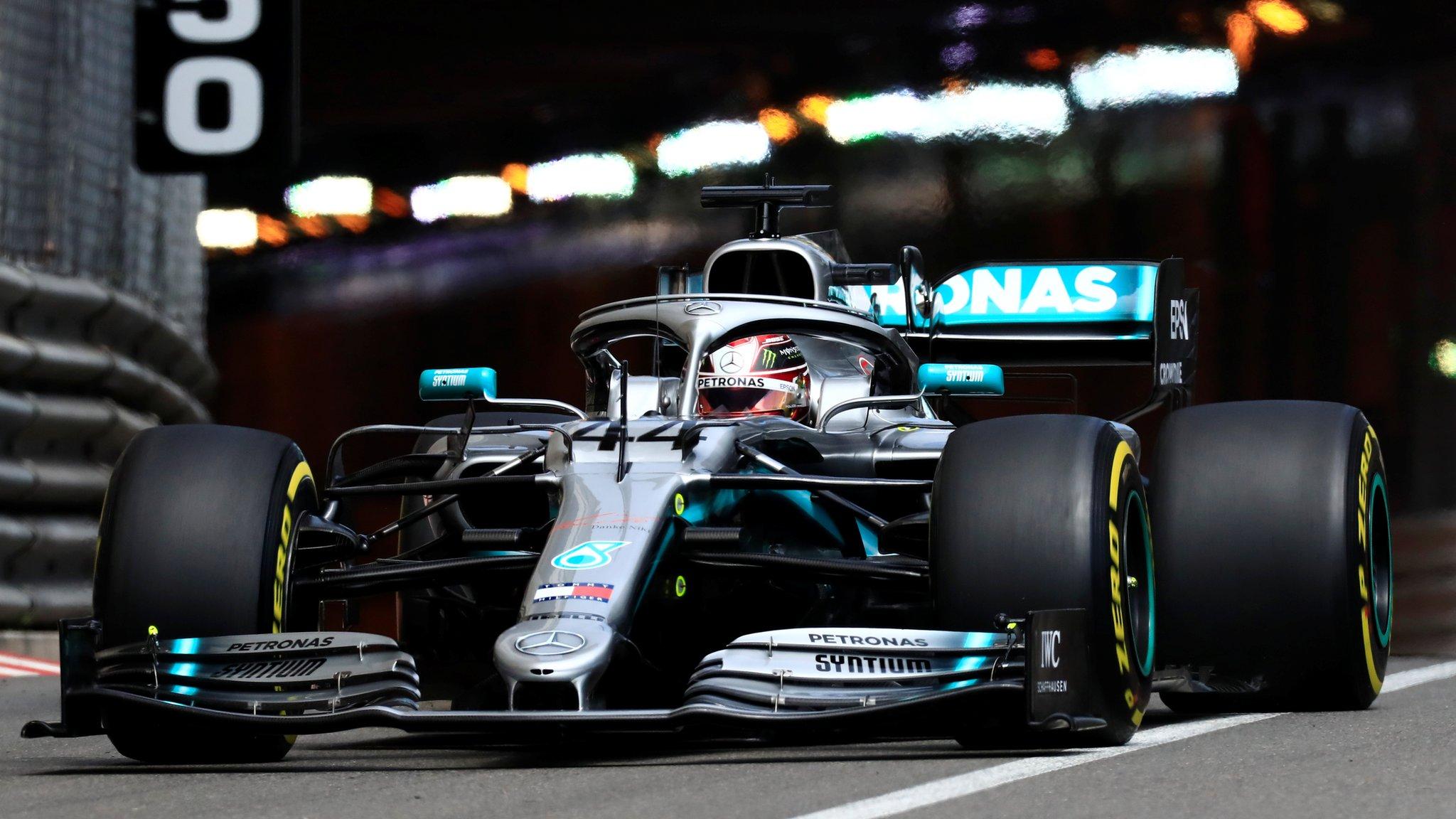 Monaco Grand Prix: Lewis Hamilton leads Mercedes one-two in practice