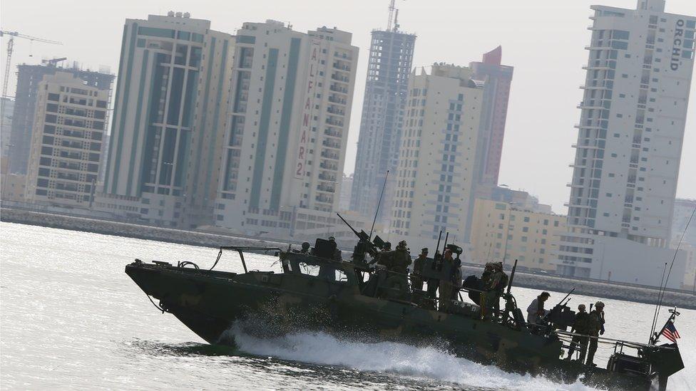 US navy in Bahrain