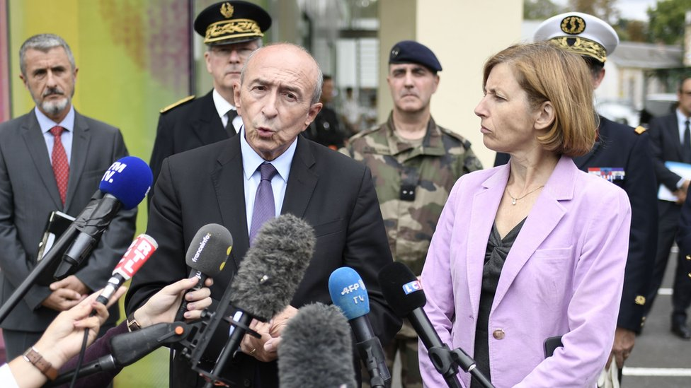 Gerard Collomb dan Florence Parly
