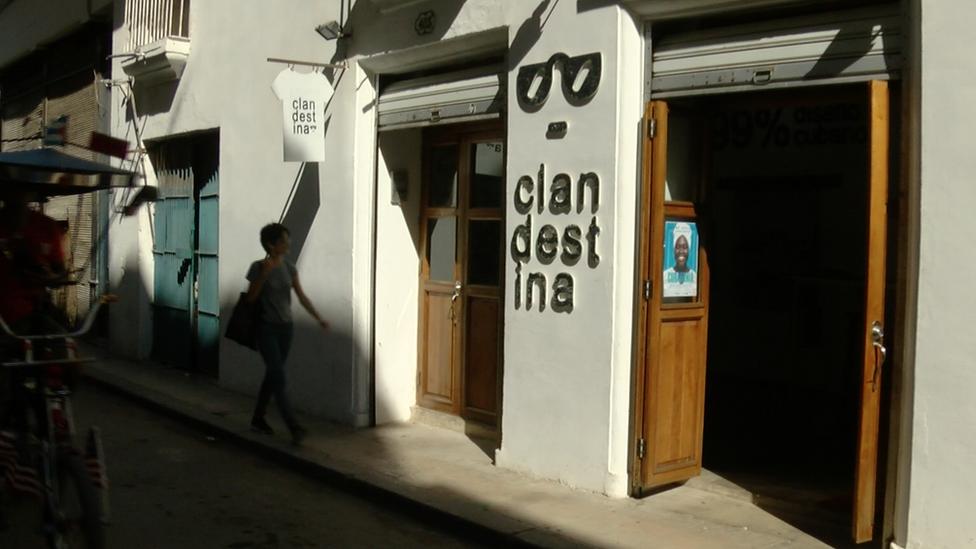 Tienda de Clandestina en La Habana Vieja