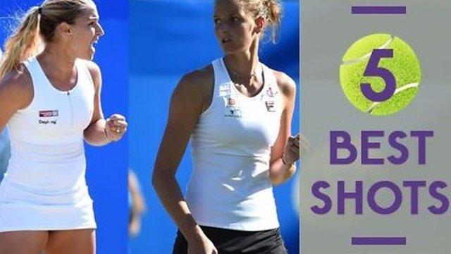 Watch the five best shots as Cibulkova wins Eastbourne title
