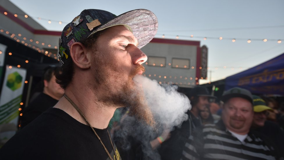A recreational cannabis user in the US state of Oregon