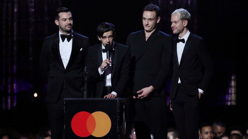 Brits 2019: The 1975 come out on top with two big awards