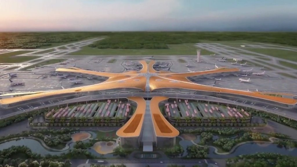 What does the world's largest single-building airport terminal look like?