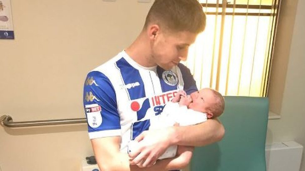 Wigan scorer subbed to dash to son's birth