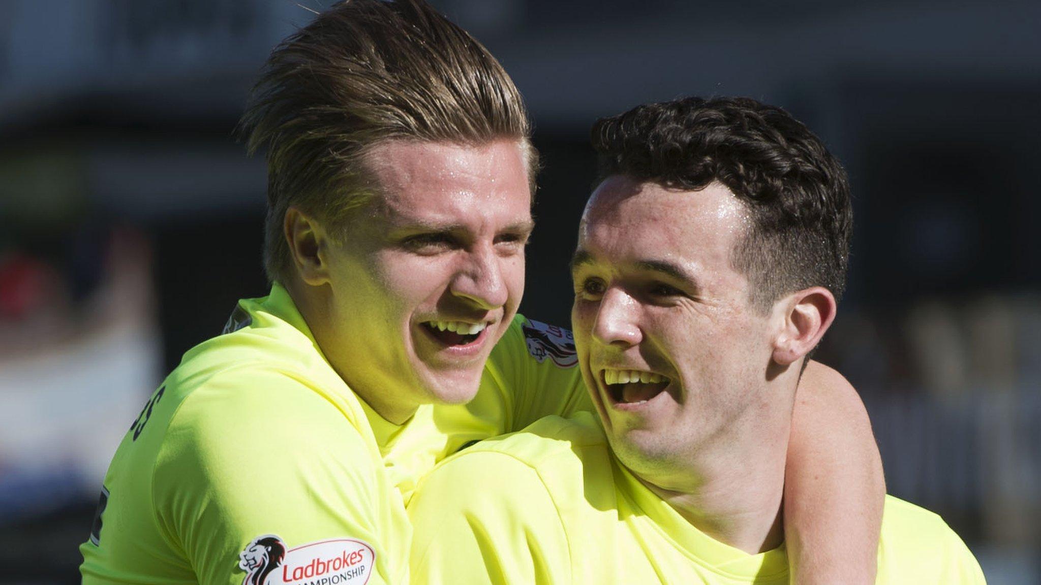 Hibs duo Cummings and McGinn, Dobbie & Forbes on PFA Scotland award shortlist