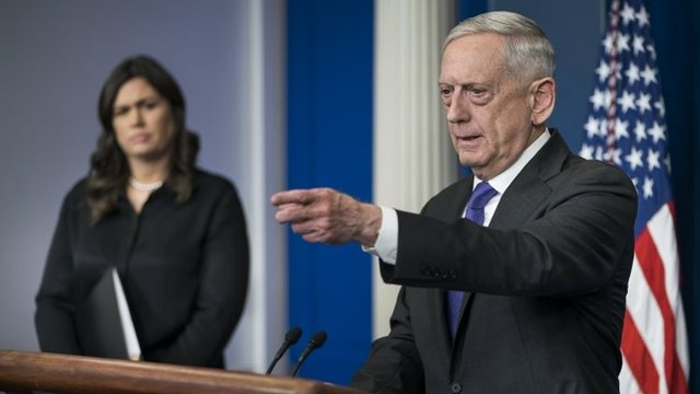 El secretario de Defensa estadounidense, Jim Mattis