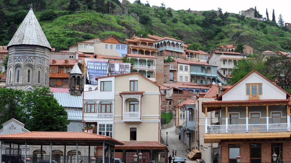Houses in old Tbilisi
