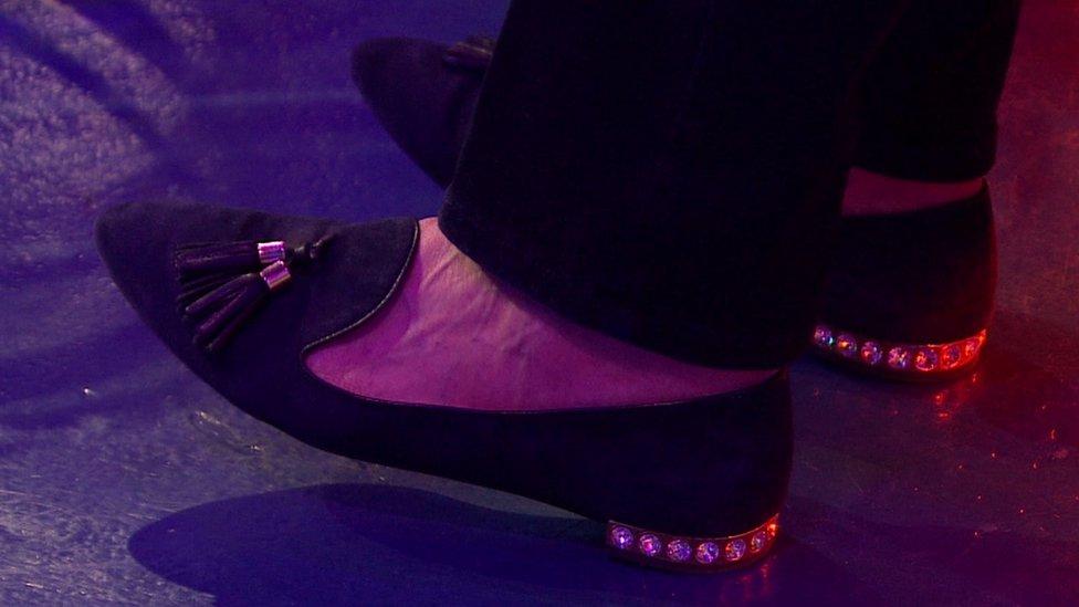 梅首相的鞋子始終是大家關注的一個焦點