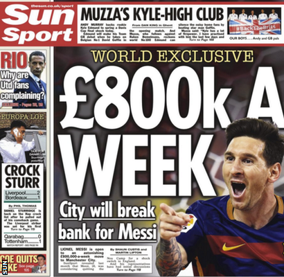 Sun back page