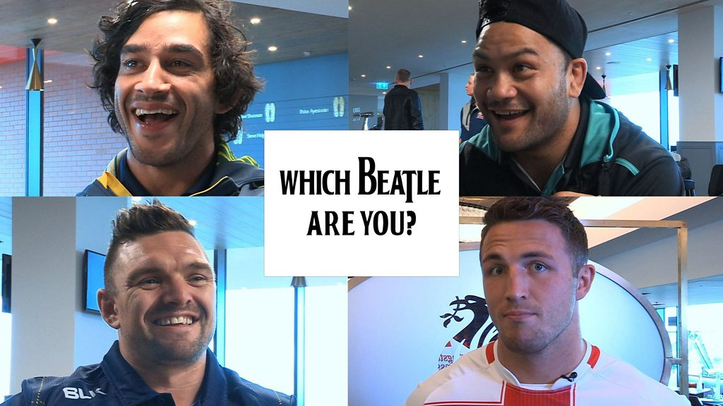 Four Nations: Sam Burgess, Danny Brough, Johnathan Thurston & Issac Luke take Beatles quiz