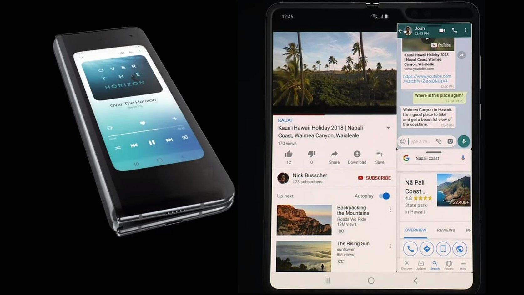 Galaxy Fold: Samsung unveils 'luxury' smartphone
