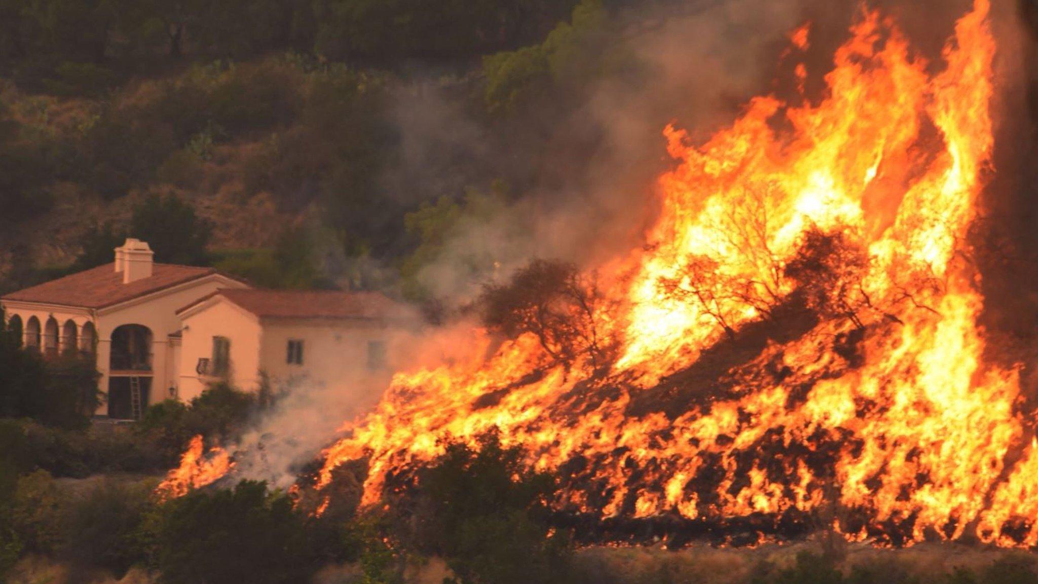 Santa Barbara evacuated as Thomas flares up again