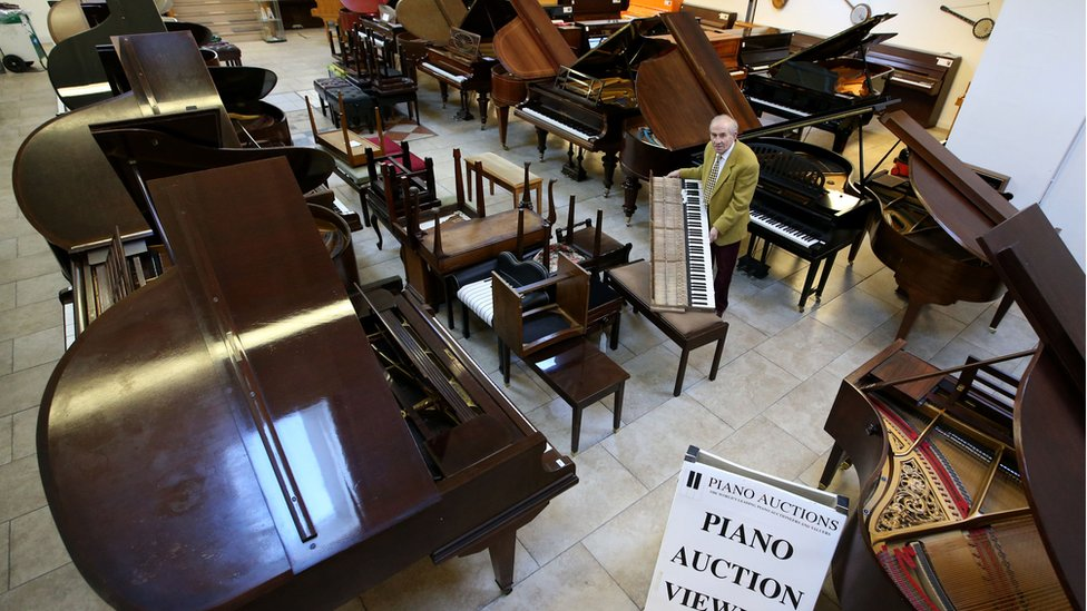 Piano collection auctioned for £375,000