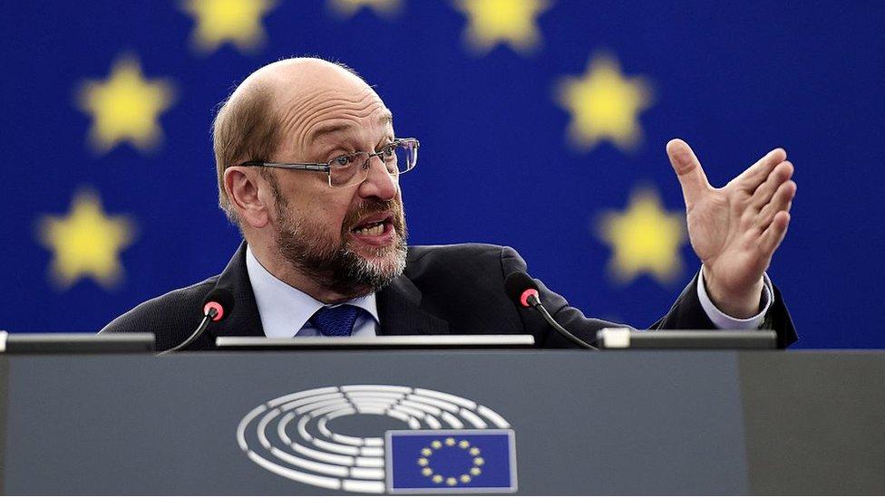 Como presidente del Parlamento Europeo, Schulz hizo frente a los euroescépticos.