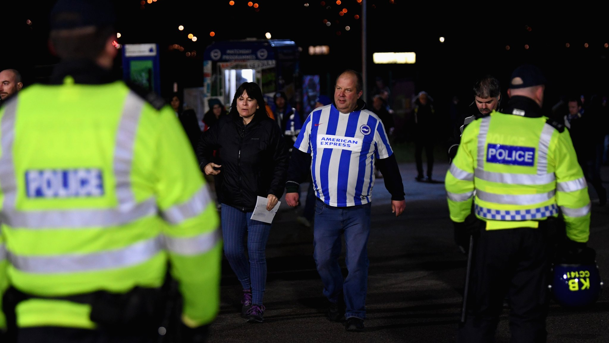 Police apologise for 'incorrect' weapons claim after Brighton v Palace