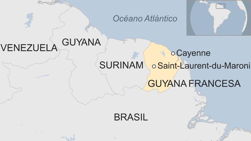 Mapa Guyana Francesa