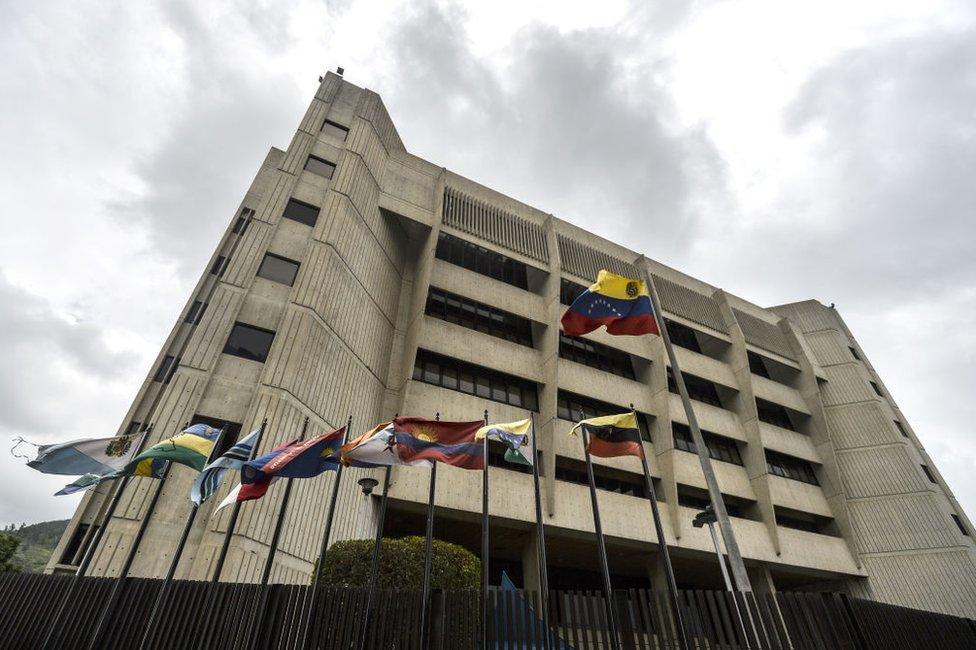 Edificio del Tribunal Supremo de Justicia de Venezuela en Caracas.