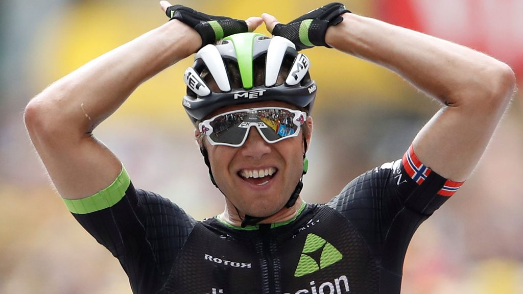 Edvald Boasson Hagen takes first Tour stage win since 2011.