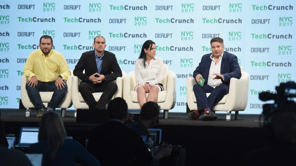 Tres start-ups participaron en la conferencia de TechCrunch en Nueva York.
