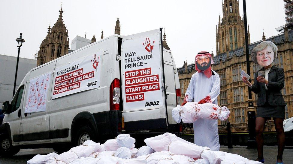 لندن تشهد أيضا مظاهرات مناهضة للسعودية ودورها في حرب اليمن