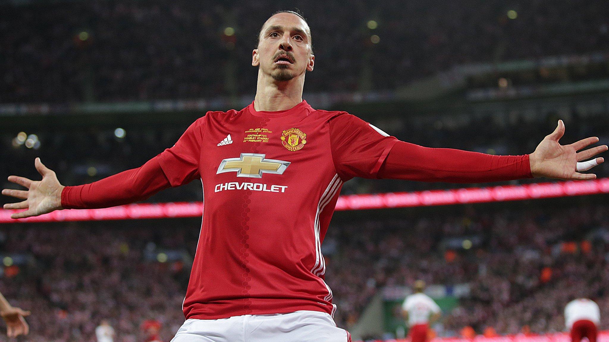 Ibrahimovic strikes late to win EFL Cup for Man Utd