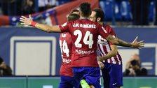 Atletico Madrid celebrate their equaliser