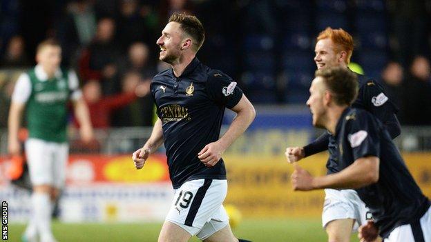 Falkirk beat Hibs in last season's play-off semi-final