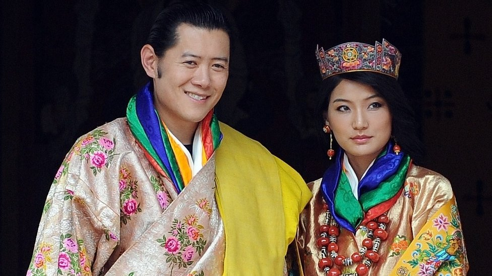 The king of Bhutan