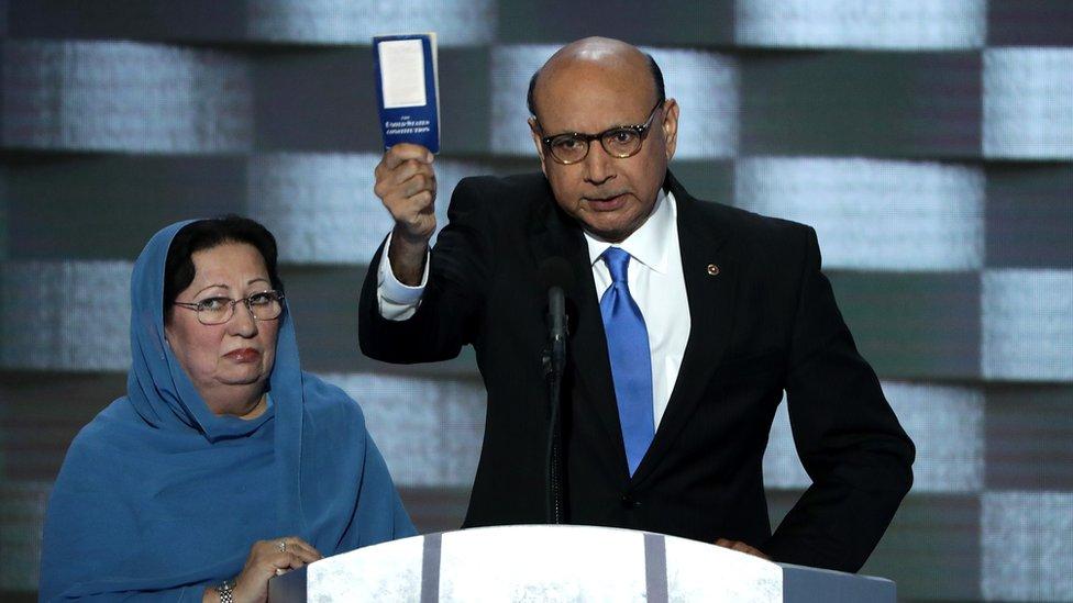US election: 'Cruel' Trump claim dismays dead soldier's family