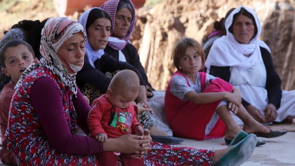 لاجئات ايزيديات