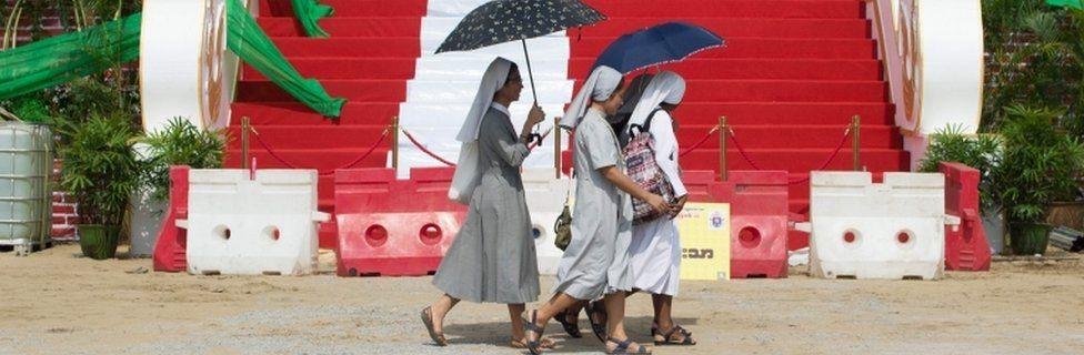 يمثل الكاثوليك ما بين 1 و1.3 في المئة من السكان في ميانمار