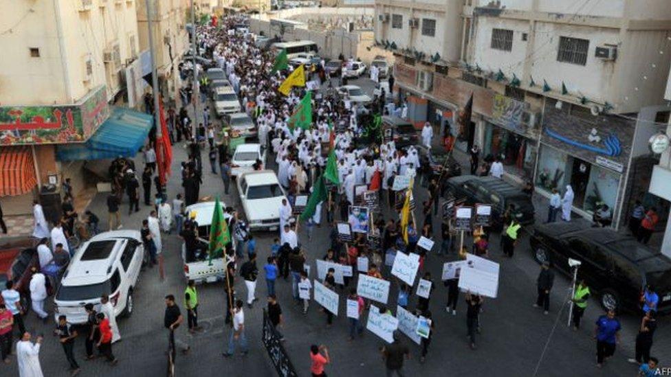 مظاهرات في القطيف