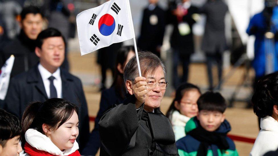 Moon Jae-in, presidente de Corea del Sur.