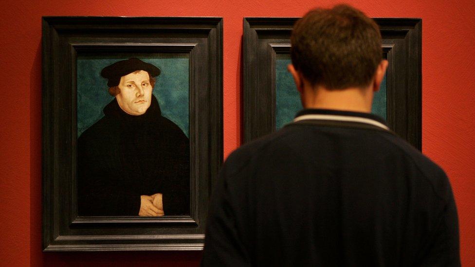 Retrato de Martín Lutero en el Museo Histórico de Alemania, en Berlín