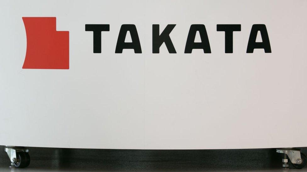 La empresa de bolsa de aire Takata se declaró en bancarrota.