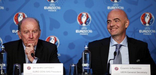 Gianni Infantino and Jacques Lambert