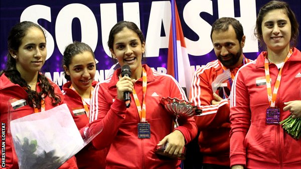 Egypt beat England in world team squash final