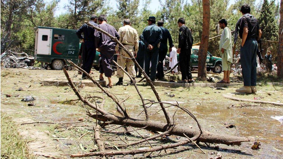 حمله انتحاری در هلمند '۳۴ کشته و ۵۸ زخمی' بجا گذاشت