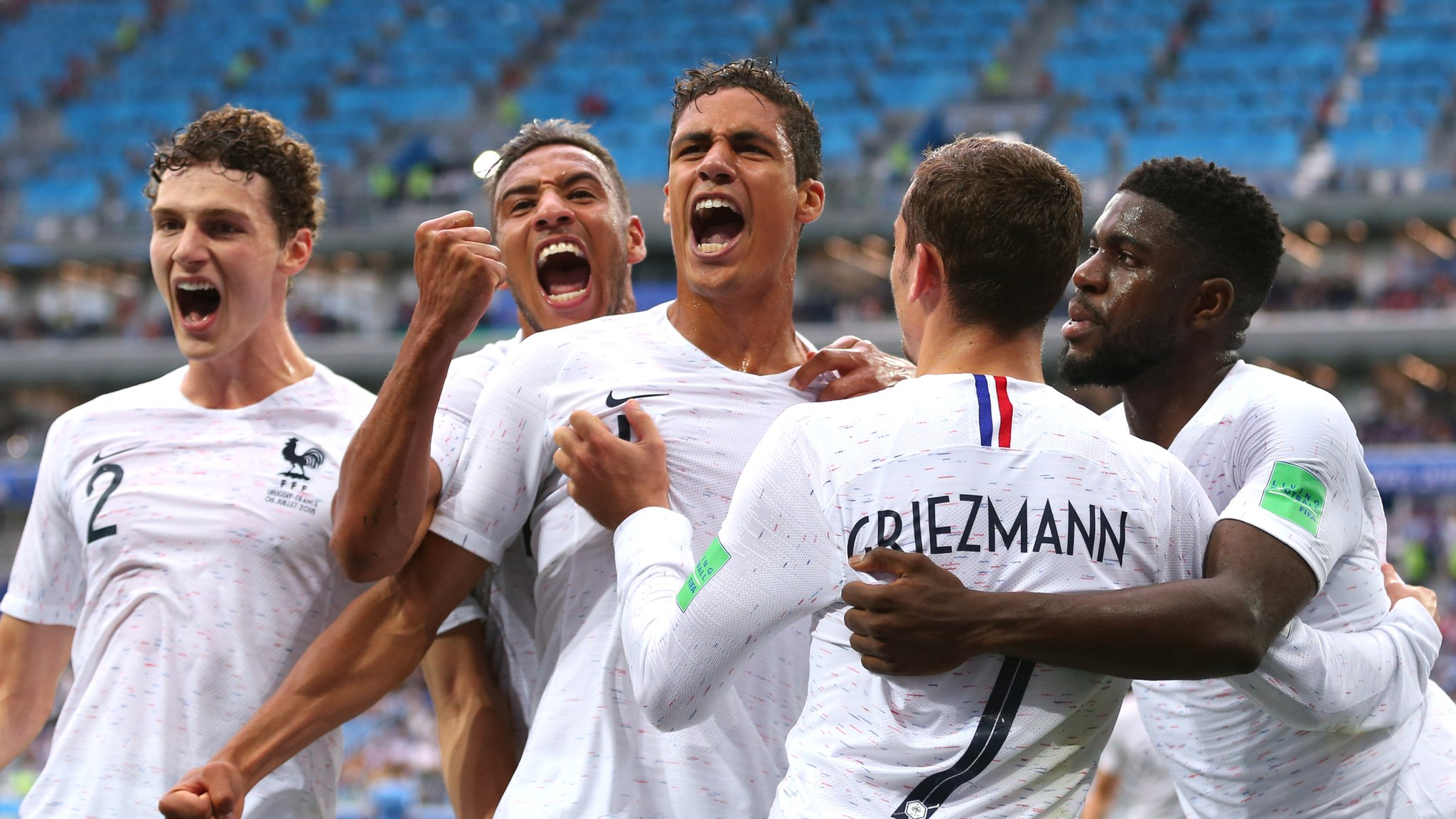 World Cup 2018: France beat Uruguay 2-0 to reach semi-final