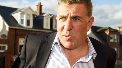 Mark McGhee arrives at Fir Park