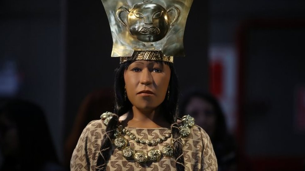 Reconstrucción de la Señora de Cao.