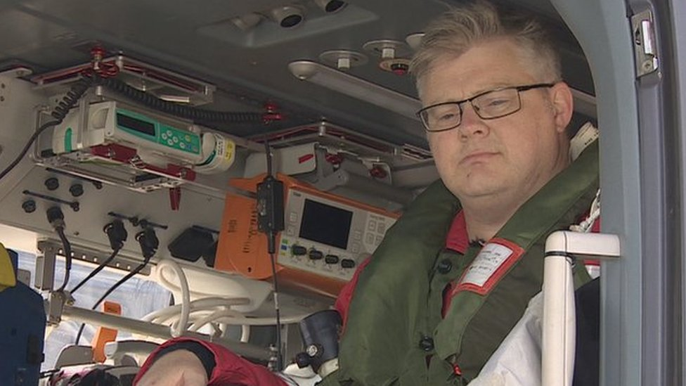 The air ambulance medic who lost both legs