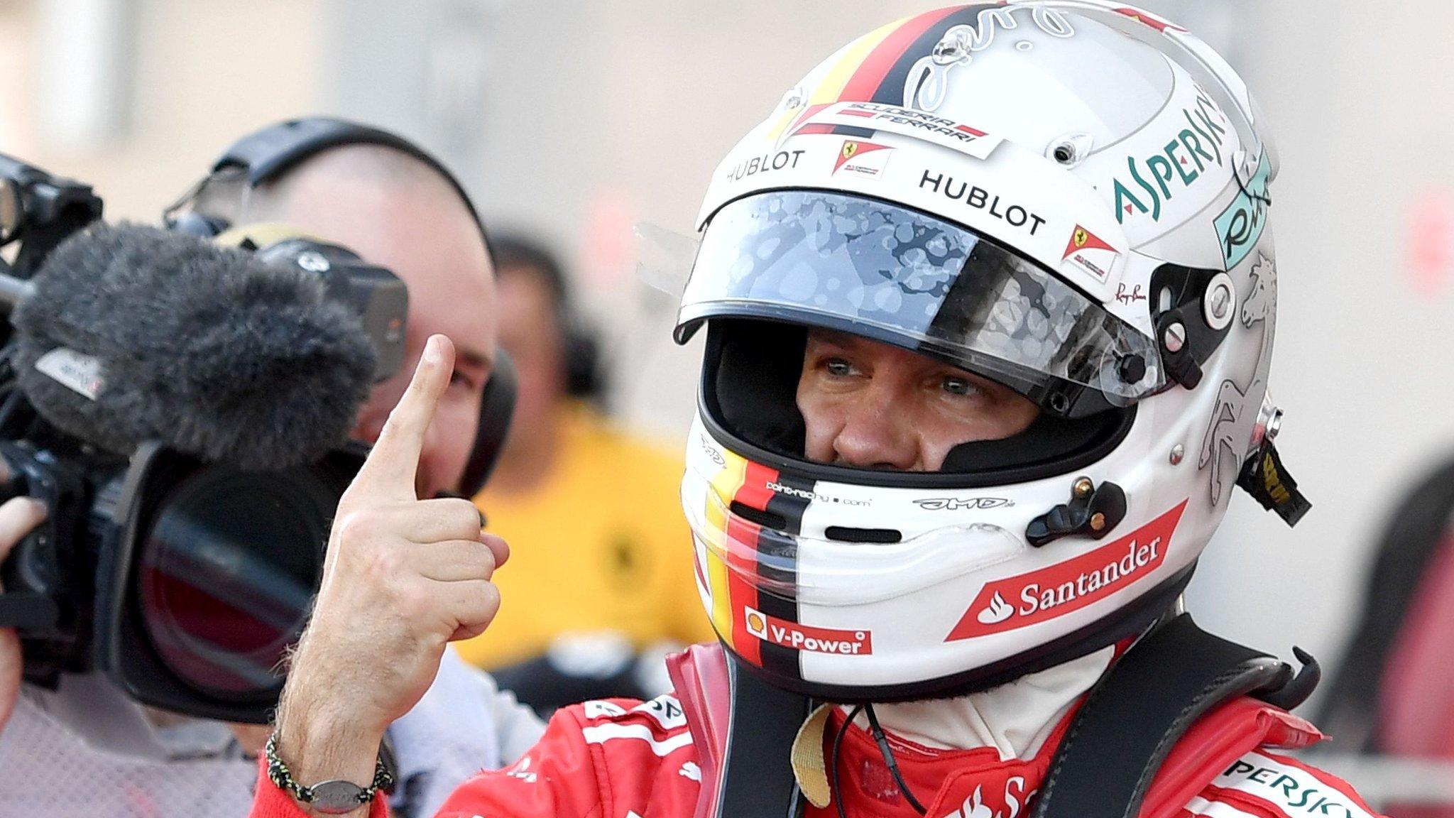Sebastian Vettel on Russian GP pole position as Ferrari lock out front row