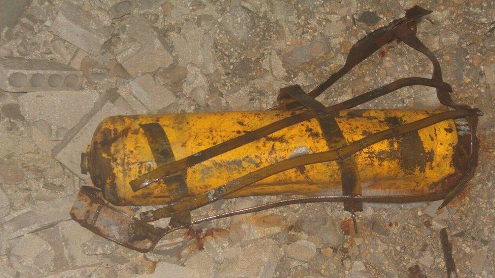 Bomba cloro en Alepo.
