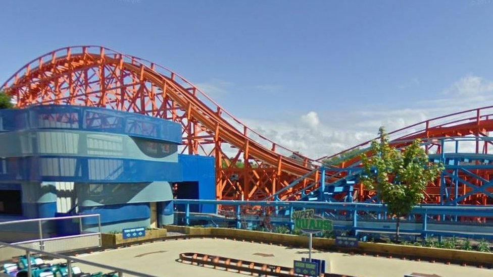 Teens take Blackpool Pleasure Beach rollercoaster joyride