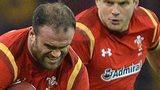 Jamie Roberts takes on Scotland